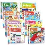 Busy books系列【8册】busy系列纸板机关玩具操作书 亲子共读书单边学边玩 2-6岁学前教育英语读物正版书