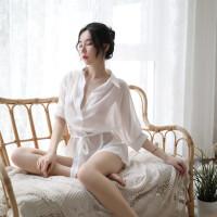 情趣睡衣性感骚文胸诱惑挑逗激情套装超骚女内衣睡裙露乳透明睡袍
