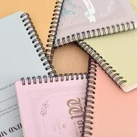 学生文具练习本子活页 A5彩色线圈本记事本60页笔记本套装
