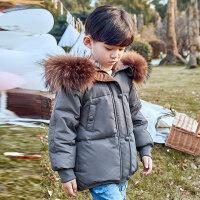 冬季儿童羽绒服男童短款加厚中小童2018新款冬季宝宝女童装外套秋冬新款