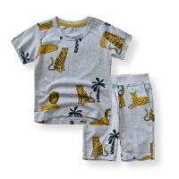 【儿童节5.20-6.1限时秒杀:29.9】韩版2020夏季新款儿童休闲运动套装卡通印花男童居家服外出两件套
