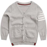 童装男童针织衫春装新款 儿童开衫毛衣春季上衣中大童