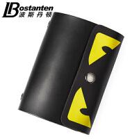 (可礼品卡支付)波斯丹顿超薄男士卡包小怪兽多卡位卡套公交卡银行卡夹女式名片包BZ005