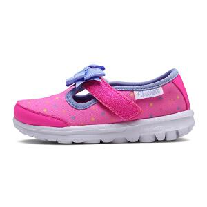 Skechers斯凯奇女童鞋 魔术贴小童鞋 防滑透气耐磨休闲鞋81134N