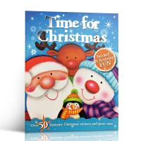 英文原版 Christmas Fun: Christmas Time 圣诞快乐:圣诞节时间 0-3-6岁幼儿启蒙认知读