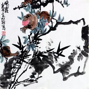 崔如琢《晚霞》中国画艺术大师