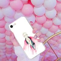 苹果6s套iphone7手机壳8plus女款5se纯红色小鸡北极星黄色情侣ins外壳