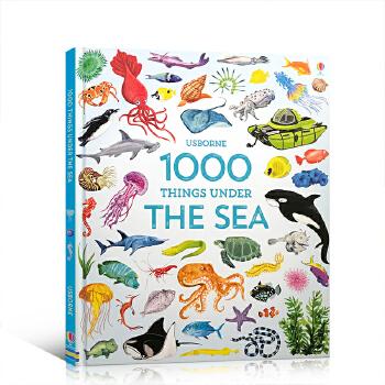 顺丰发货 英文原版 1000 Things Under the Sea 一千个海底生物 儿童启蒙认知图画精装书 Usborne出品 单词书 3-6岁