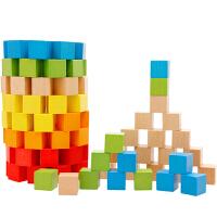 100粒正方体方块积木制立体几何拼图教具儿童早教玩具3-7周岁