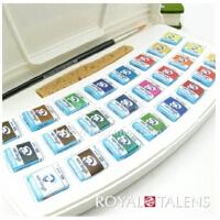 荷兰皇家泰伦斯凡高24色固体水彩颜料 写生水彩