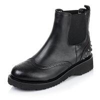 Tata/他她专柜同款小牛皮女短靴(绒里)2DO40RD5