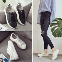 ZHR2018春季新款韩版厚底小白鞋运动鞋松糕跟休闲鞋平底单鞋女鞋V62