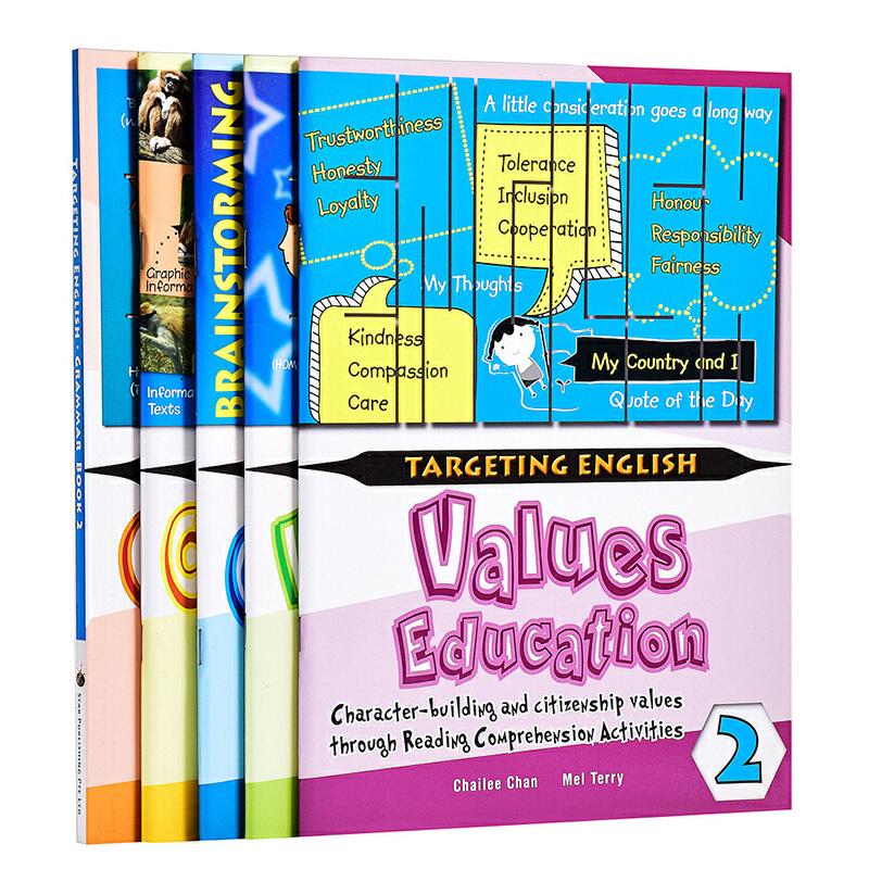 【中商原版】【新加坡英语教材】Targeting English Series 2 目标英语2年级5册套装
