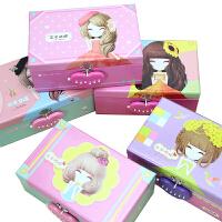 花花姑娘单层密码锁文具盒收纳盒小学生多功能铅笔盒文具盒