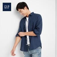 Gap官方旗舰店 男装 棉麻混纺长袖衬衫 227688