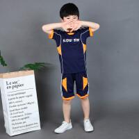 木木屋儿童套装2021夏季新款男童帅气潮流中大童男孩短袖短裤两件套