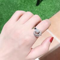抖音网红同款可分开戒指 潮人个性两件套皇冠指环 百搭套装饰品女 陀飞轮款