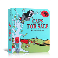 顺丰发货 英文版原版 进口英语书籍 纸板书 Caps for Sale Board Book 卖帽子 吴敏兰绘本123