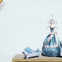 新婚礼物生日礼物送女友少女心爆棚的女生实用diy创意礼品闺蜜友情结婚礼*礼品 浅蓝色 蓝星蓬裙沙发款