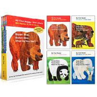 【全店300减100】英文原版绘本brown bear brown bear What Do You See 4册艾瑞卡