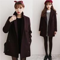 慈姑秋冬呢子外套短款女装小个子毛呢外套冬装妮子大衣深秋矮个子外套