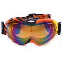 滑雪眼镜镜片大视野球面镜 防风滑雪镜双层防雾近视镜