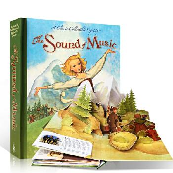 进口英文原版绘本 The Sound of Music: A Classic Collectible Pop-Up 音乐之声3D弹起立体书游戏教具玩具书Bert Fink精装收藏