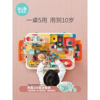 可优比儿童多功能积木桌大颗粒宝宝男孩拼插积木拼装玩具益智桌子