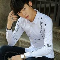 新款2018男士长袖男士个性长袖衬衫春夏男长袖衬衫韩版潮流
