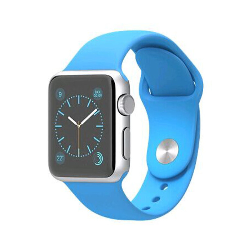 Apple 苹果 Apple Watch Sport MLC52CH/A 42毫米银色铝金属表壳搭配蓝色运动型表带智能手表 健康与运动正品国行 全国联保