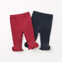 [2件3折价:45.9]戴维贝拉春装女童打底裤宝宝休闲弹力裤DB8951
