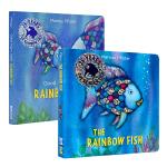 彩虹鱼系列纸板书2册 英文原版 The Rainbow Fish 晚安小彩虹鱼 1993年凯特格林纳威奖 儿童情绪管理