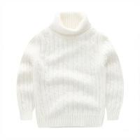 冬季儿童羊绒衫加厚宝宝高领毛衣女童针织打底衫男童羊毛衫冬白色活动秋冬新款