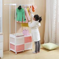 幽咸家居 实用创意 多用挂衣架 儿童衣帽架 收纳箱子 挂衣架 家用门厅衣帽架
