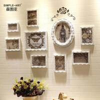 欧式装饰画客厅餐厅现代简约壁画创意照片挂画沙发背景墙壁组合SN4792 16框尺寸205x77cm 一套