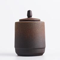 陶瓷密封茶�~罐 茶具普洱�t茶茶缸存��罐 功夫茶罐