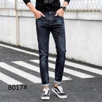 新款2018男士裤子夏季男士冬季牛仔裤男修身韩版小脚秋冬款保潮流
