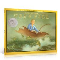 Free Fall 梦幻大飞行 1989年凯迪克银奖 平装 大卫・威斯纳(David Wiesner) 英文原版绘本