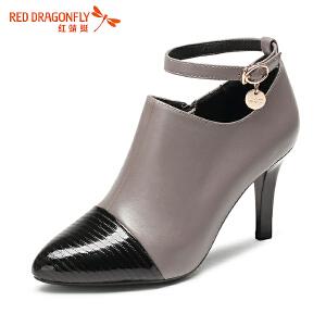红蜻蜓女鞋秋冬休闲鞋鞋子女高跟鞋WDB66732
