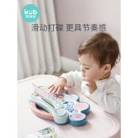 可优比宝宝手拍鼓婴儿玩具拍拍鼓儿童音乐0-1岁早教益智音乐鼓