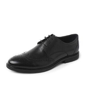 Tata/他她2018秋牛皮革英伦雕花布洛克鞋绑带男单鞋S3C26CM8