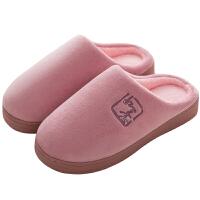 棉拖鞋女秋冬室内居家居保暖情侣毛毛棉拖鞋防滑轻便月子棉鞋冬季