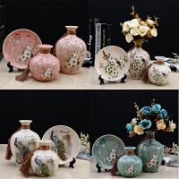 创意家居饰品陶瓷花瓶摆件酒柜电视柜摆设工艺品