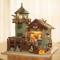 兼容乐高城堡街景渔夫小屋拼装积木女孩成人益智玩具模型房子别墅
