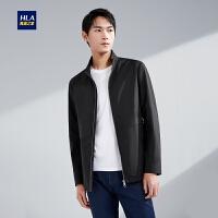 HLA海澜之家简约净色夹克2020春季新品舒适立领挺括外套男