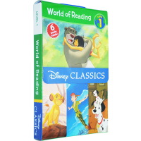 迪士尼 英文原版�L本 3 6�q World of Reading Disney Classic Characters L