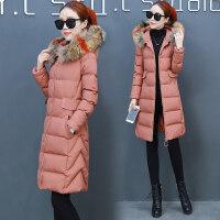 中长款棉衣服女冬季韩版宽松羽绒大毛领加厚棉袄外套