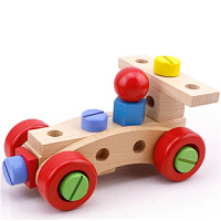 百变螺母车组合拆装玩具木制儿童男孩组装可拆卸拼装玩具
