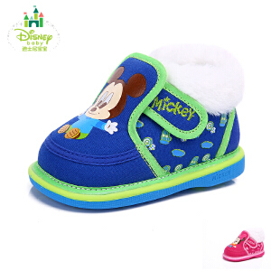 【99元任选2双】迪士尼童鞋秋冬男女童旅游鞋婴童休闲鞋保暖学步鞋DH0041