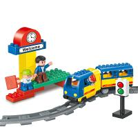 积木大颗粒legao拼插轨道系列火车积木儿童玩具早教玩具